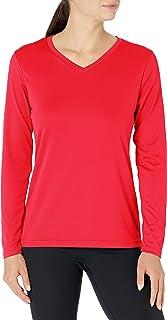 تيشيرت Augusta Sportswear نسائي طويل الأكمام ممتص للرطوبة