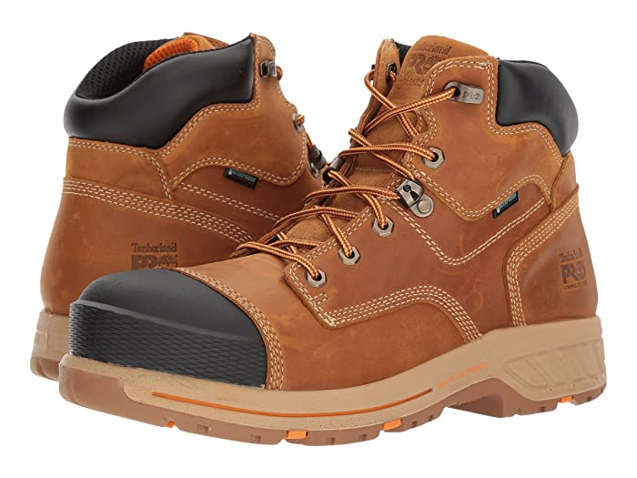 Timberland PRO  Helix 6 HD Composite Safety Toe Waterproof BR (Distressed Wheat Full Grain Leather) Mens Work Lace-up Boots