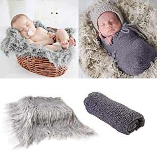 Tabpole Manta para fotografía de bebé recién nacido, manta para fotografía y accesorios