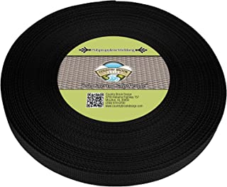Country Brook Design - 1 Inch Black Polypro Webbing, 25 Yards