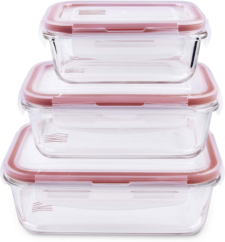 IRIS Set de contenedores herméticos de Vidrio de borosilicato, 3.2L