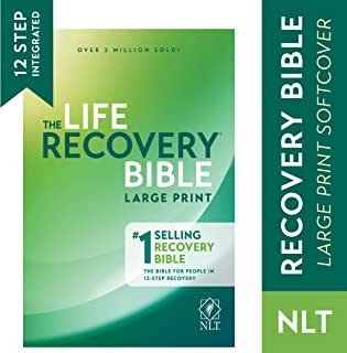 Tyndale NLT Life Recovery Bible (Large Print, Softcover) 2nd Edition - Addiction Bible Tied to 12 Steps of Recovery for Help with Drugs, Alcohol, Personal Struggles - With Meeting Guide