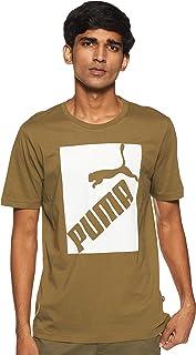 تي شيرت رجالي من PUMA مطبوع عليه شعار كبير
