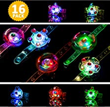 Light Up Bracelet LED Party Favors 16 Pack Toys for Kids Girls/Boys Prizes Back to School Gifts Toys for Classroom Halloween Christmas Birthday Celebration New Year Eve Party Neon Supplies