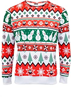 Be Jealous Mens Candy Stick Ribbon Long Sleeve Sweatshirt