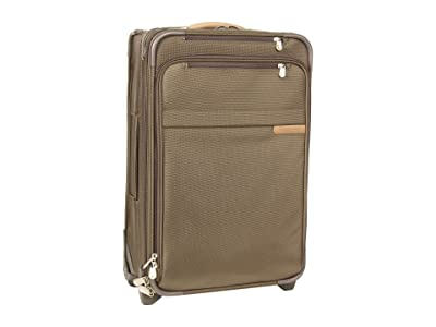 Briggs & Riley Baseline Domestic Carry-On Expandable Upright (Olive) Pullman Luggage