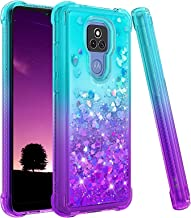 Ruky Moto G Play 2021 Case, [Not Fit Moto G Play 2020] Gradient Quicksand Series Glitter Bling...