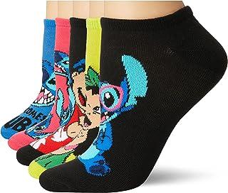 Lilo & Stitch Women's 5 Pack No Show Socks