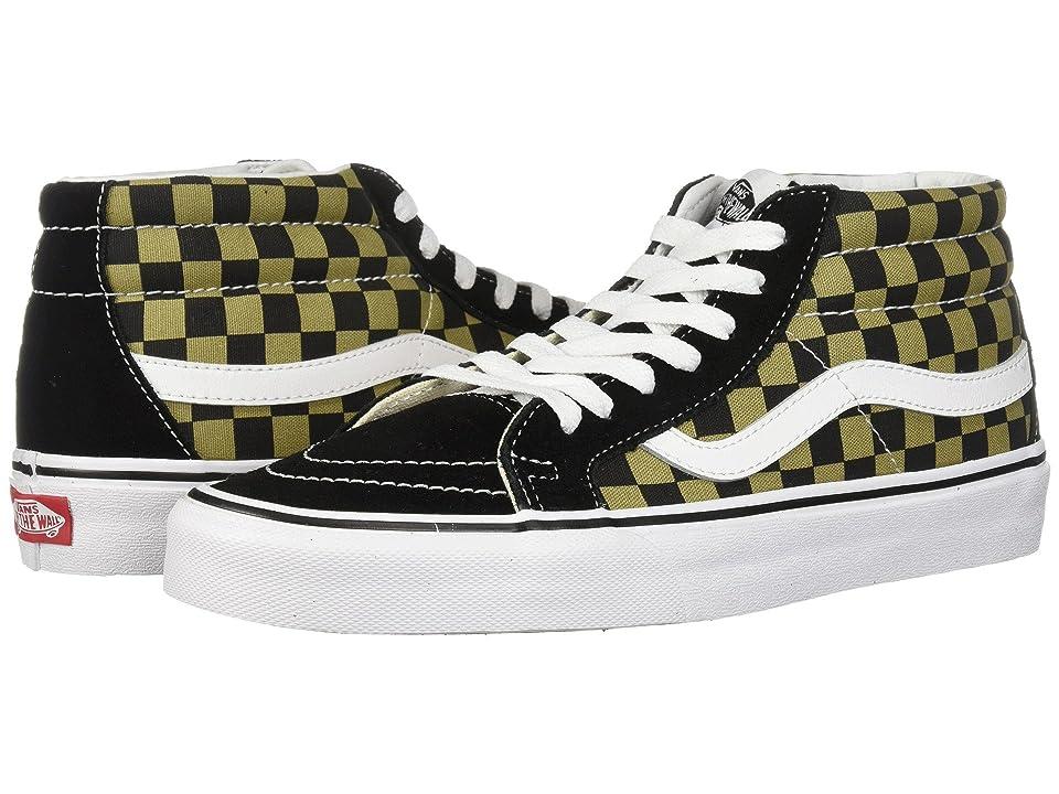 Vans SK8-Mid Reissue ((Two-Tone Checker) Boa/Black) Skate Shoes