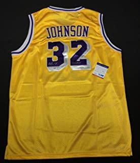 Magic Johnson Signed Los Angeles Lakers Adidas Jersey
