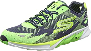 Skechers Running Shoes for Men - Black & Green 42.5 EU