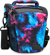 USA Gear SLR Camera Case Bag (Galaxy) with Top Loading Accessibility, Adjustable Shoulder Sling, Padded Handle, Weather Resistant Bottom - Comfortable, Durable and Light Weight for Travel