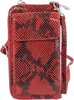irisaa Handy Umhängetasche Damen Leder, Viele Kartenfächer, made in Italy, Geldbörse Echtleder Brieftasche, Handytasche zu...