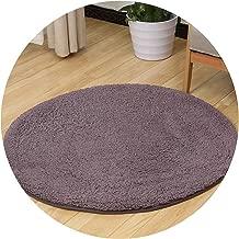 Carpet for Living Room Soft Fluffy Mats Shaggy Kids Bedroom Computer Chair Circular Rug,Purple,Diameter 100cm