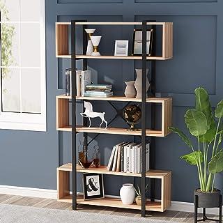 6 Niveaux Bibliothèque Étagère de Rangement bibliothèque Meuble de Rangement Industrielle étagère décorative pour Salon, B...
