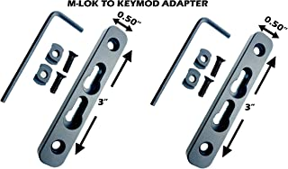 GOTICAL 2 Slots Mlok to Keymod Adapter Converter Rail Section M-lok to Keymod Converter Pack of 2