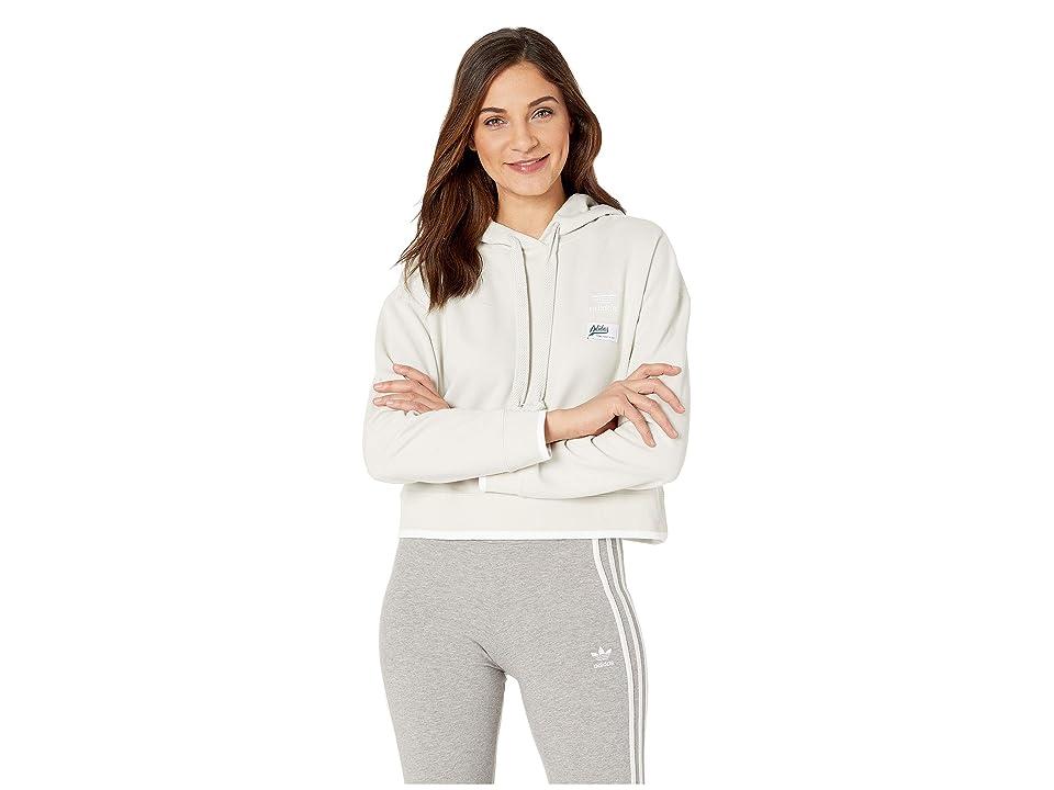 adidas Originals Cropped Hoodie (Raw White) Women