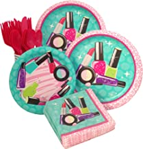 Makeup Spa Birthday Party Supply Pack Bundle For 8 Guests