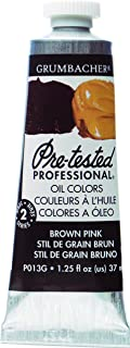 Grumbacher Pre-Tested Oil Paint, 37ml/1.25 Ounce, Brown Pink (P013G)