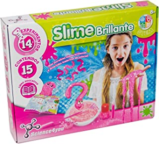 Science4you-Slime Slime Brillante Juguete Científico y Educativo para Niños +8 Años, Multicolor (5600983615076)