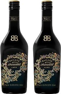 Baileys Chocolat Luxe - Licuadora de Crema con Chocolate de Bélgica Real, 2 Unidades, Alcohol, Bebida alcohólica, Botella de 15,7%, 500 ml