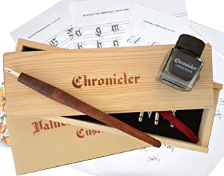 Calligraphy Set for Beginners - Caligraphy Kit in a Gift Box with Instructions, Wooden Pen, 7 Nibs and Ink