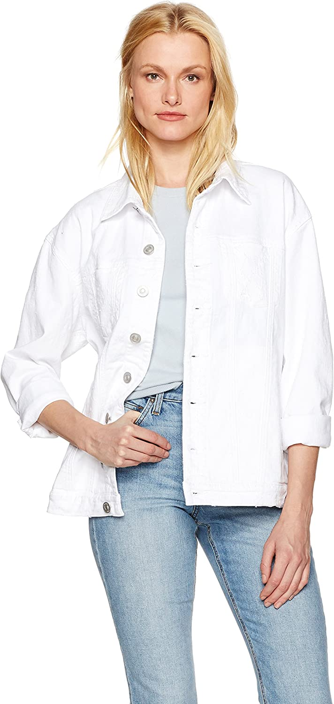 Hudson Jeans Womens Emmet Long Sleeve Boyfriend Jacket Jeans