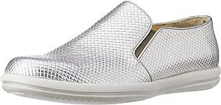 CG Shoe Men's Silver Leather Sneakers - 10 UK (CG-TK 33)