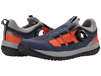 Saucony Kids S-Switchback 2.0 (Little Kid/Big Kid) (Navy/Orange) Boys Shoes