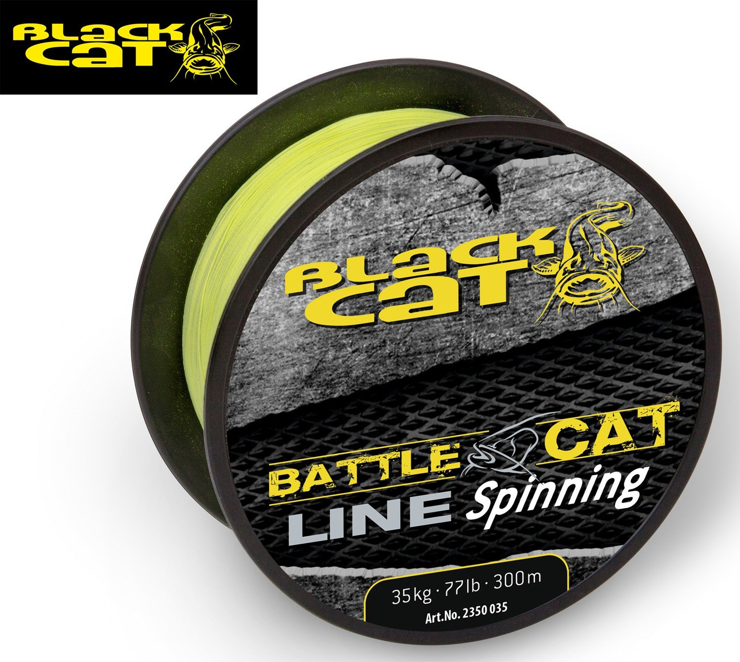 Black Cat Battle Cat Line Spinning 300 M, 0,35 mm 35 kg amarillo ...