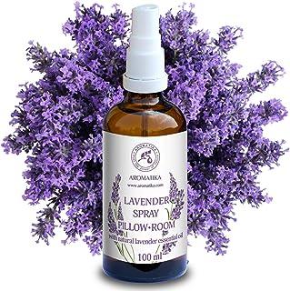 Spray de Aromaterapia de Lavanda 100ml - 100% Pura Aceite Esencial de Lavanda - Ideal para Yoga - Spray para Almohada - Relajación - Sueño y Spray para Habitación