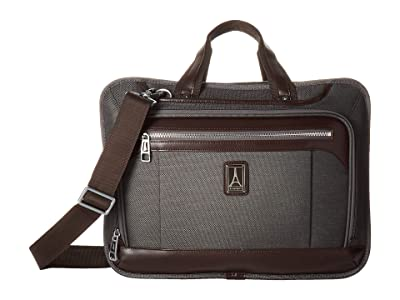 Travelpro Platinum(r) Elite Expandable Business Brief (Vintage Grey) Briefcase Bags