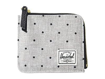 Herschel Supply Co. Jack RFID (Polka Dot Crosshatch Grey/Black) Wallet Handbags