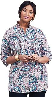 Jessica London Women`s Plus Size A-Line Poplin Shirt