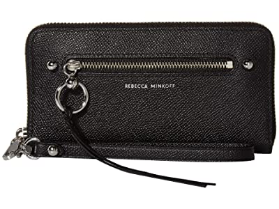 Rebecca Minkoff Gabby Phone Wallet (Black) Handbags