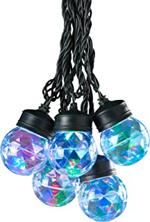 Multi-color LED Projection Kaleidoscope Turning and Swirling Light, Set of 8