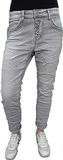 Karostar by Lexxury Denim Stretch Baggy-Boyfriend-Jeans Boyfriend 4 Botones Abierta Cierre de Botones más Colores