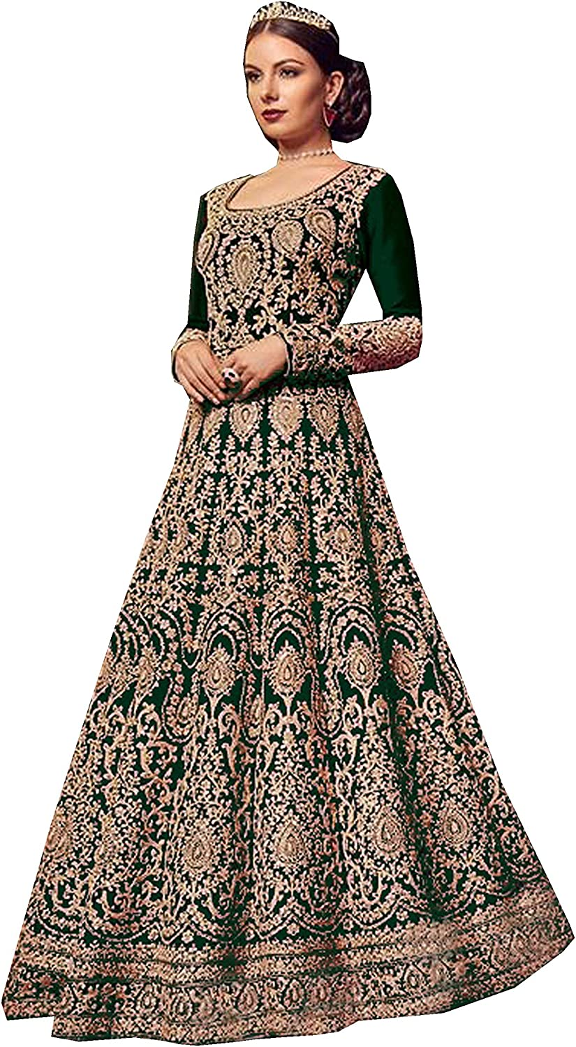 Delisa Indian Pakistani Ethnic Party Wear Long Anarkali Gown for Womens VN 5902