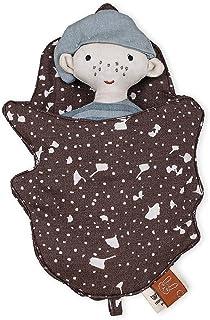 OYOY Mini – set med dockor/dockor sovsäck Ask the elf för barn pojkar flickor – brun ekologisk bomull – 20 x 13 cm