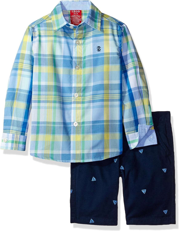 Izod Kids Boys' Woven Shirt and Short Set