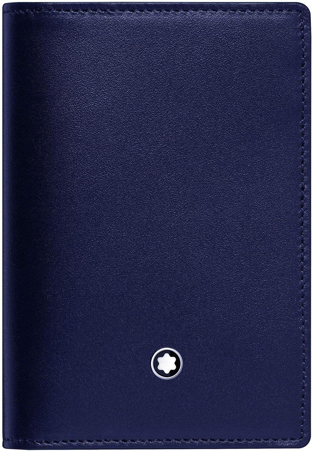 Montblanc Meisterstück - Estuche para Tarjetas de Visita con Compartimentos, Color Azul