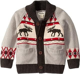 Kids Boy's Moose Cabin Shawl Collar Cardigan (Toddler/Little Kids/Big Kids) Gray 3T (Toddler)