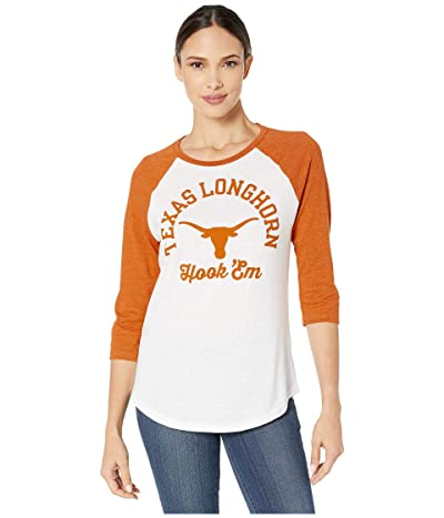 289c Apparel Texas Longhorns Lorena Tri-Blend 3/4 Sleeve Tee (White/Texas Orange) Women