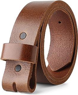 Correa para hebillas 100% parte superior grano piel de one piece, hasta tamaño 62, 1–1/5,1cm Amplio, fabricado en EE. UU.