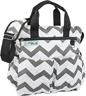 Stylish Travel Diaper Bag Tote for Men and Women – Unisex, Multifunctional Design with Universal Stroller Straps, 9 Pockets FREE Wet/Dry Bag and Changing Pad by LoveMyGoodies