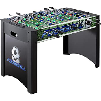 Hathaway Playoff 4' Foosball Table, Soccer Game for Kids and Adults with Ergonomic Handles, Analog Scoring and Leg Levelers