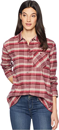 Rose Brown Sunset Plaid