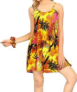 LA LEELA Shirt Camicia Hawaiana Uomo XS - 5XL Manica Corta Hawaii Tasca-Frontale Stampa Hawaiano Casuale Regular Fit Blu538