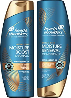 Head and Shoulders Shampoo and Conditioner, Moisture Renewal, Anti Dandruff Treatment and Scalp Care, Royal Oils Collectio...