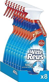 Witte Reus Badkamerreiniger Spray, 100% Ontkalking en Glans, 8 stuks x 750ml (6000ml), Voordeelverpakking